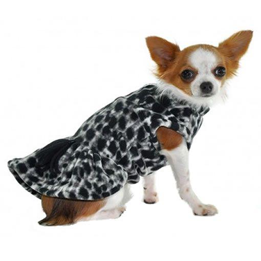 Roupa para Cachorro Vestido Soft Oncinha Preta Bichinho Chic