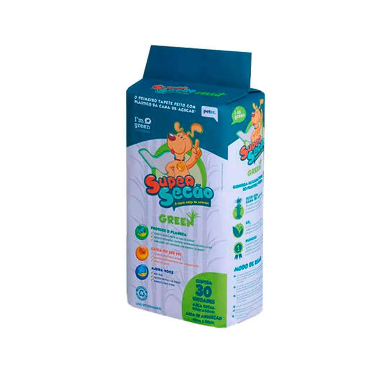 Tapete Higiêncio SuperSecão Green para Cachorros Petix