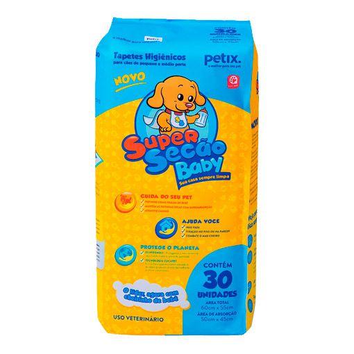 Tapete Higiênico Super Secão Baby para Cães-30 unidades