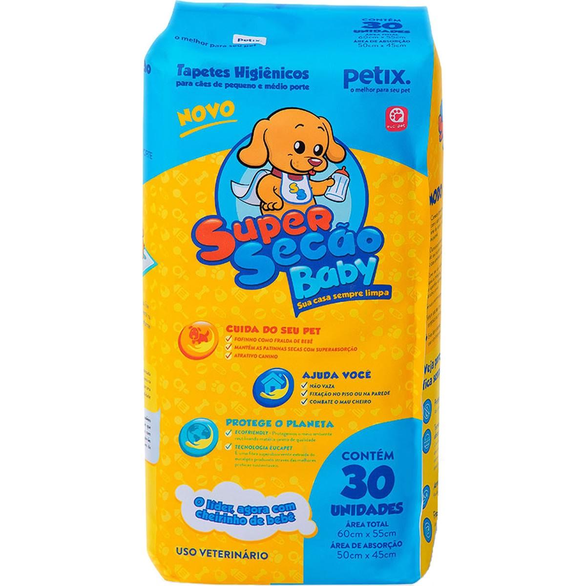 Tapete Higiênico Super Secão Baby para Cães Petix