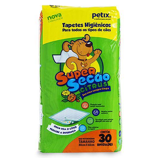 Tapete Higienico Super Secão Citrus 30 Unidades para Cachorro Petix