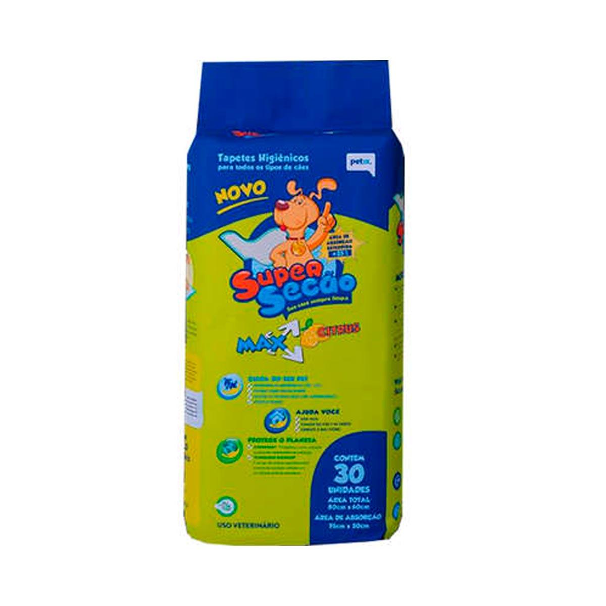 Tapete Higiênico Super Secão Max Citrus para Cães Petix