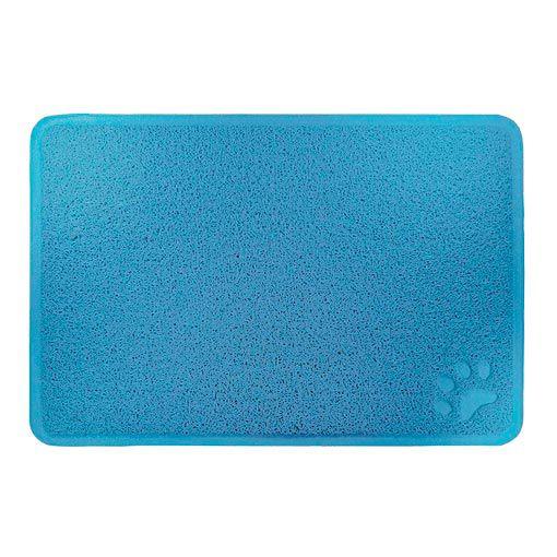 Tapete para Cachorro e Gato Trap Mat Porta Comedouro Jambo Pet Azul