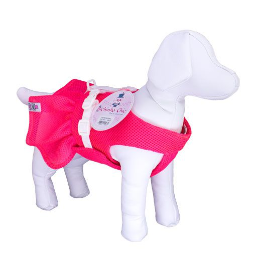 Vestido Peitoral para Cachorra Bichinho Chic Rosa