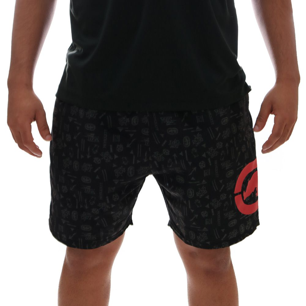Bermuda Ecko Volley Sintética Preto