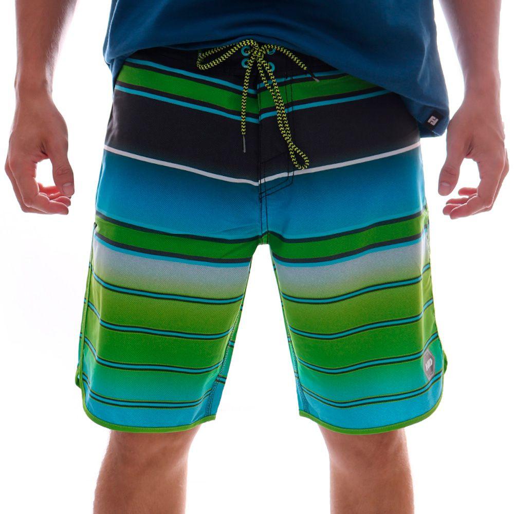 Bermuda HD Board Striped Verde