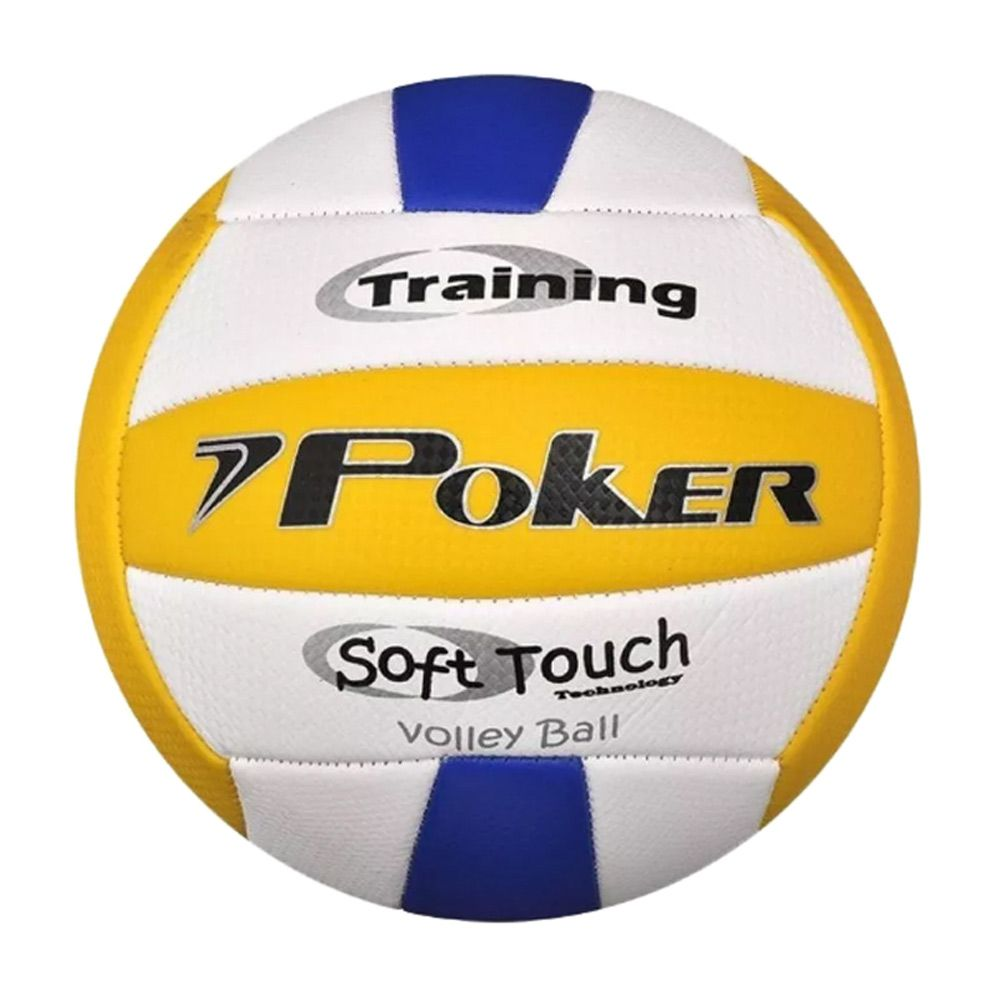 Bola Poker Vôlley Ball Training Azul E Amarelo