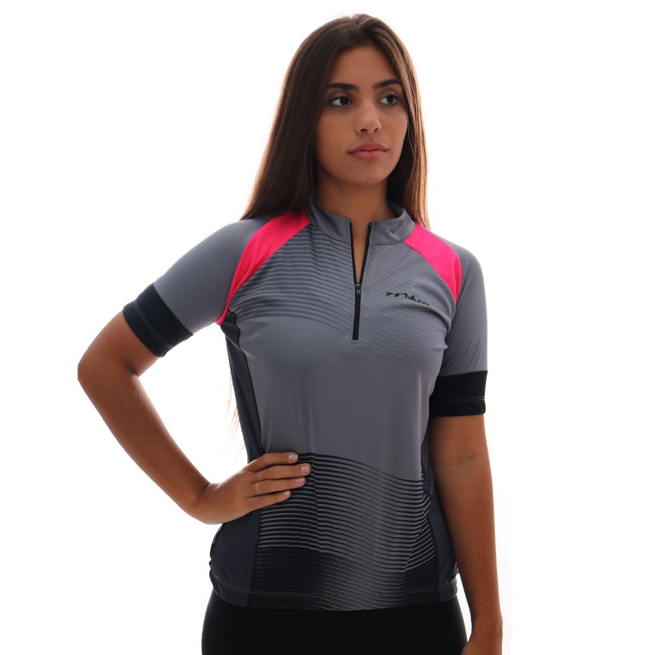 Camisa Poker Ciclista C/ Ziper Amber Feminina
