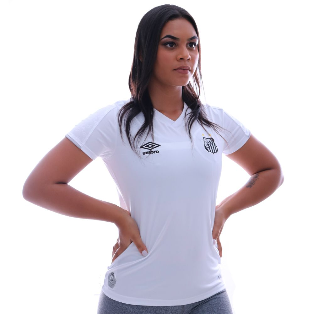 Camisa Umbro Santos I 2019 Feminina