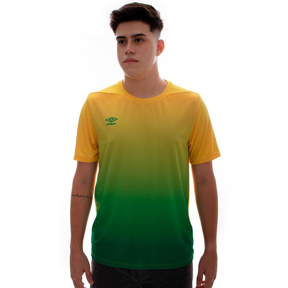 Camisa Umbro TWR Degradê Amarelo E Verde
