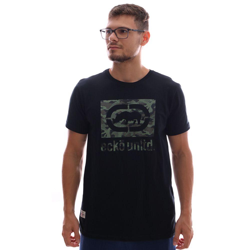 Camiseta Ecko Estampada Preto Masculina