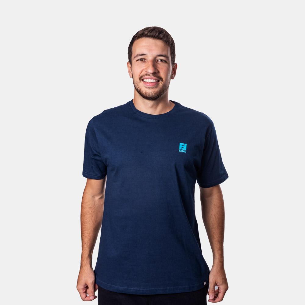 Camiseta Fatal Basic Logo Azul