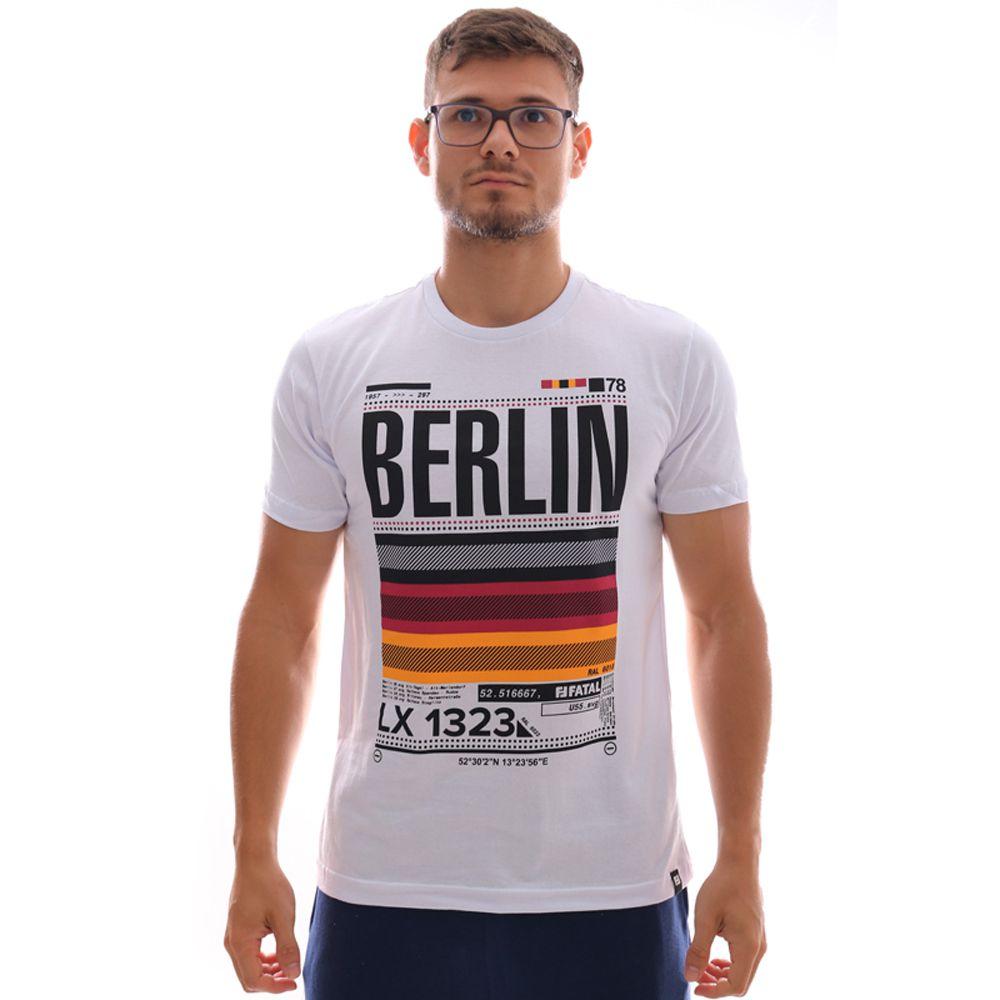 Camiseta Fatal Berlim Estampada Branco