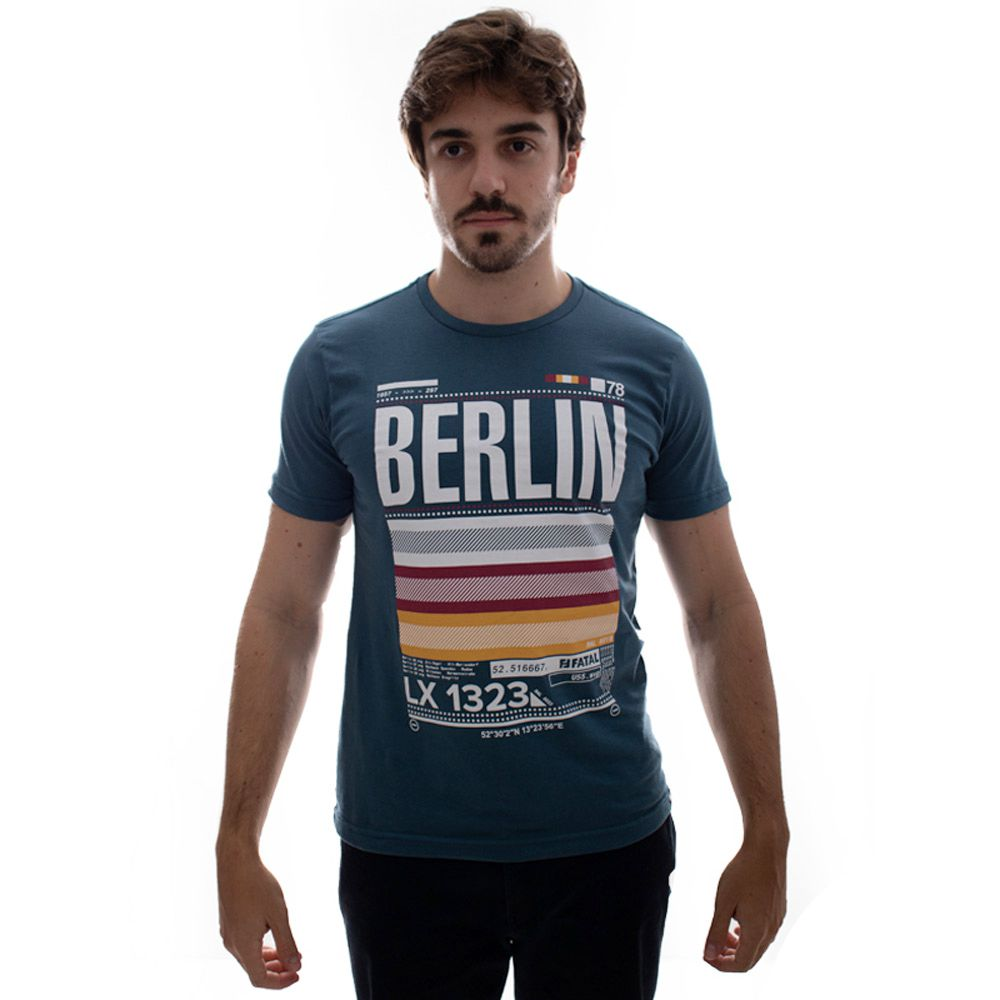 Camiseta Fatal Berlim Estampada Petroleo