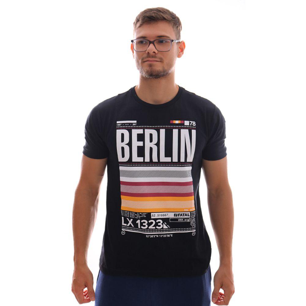 Camiseta Fatal Berlim Estampada Preto