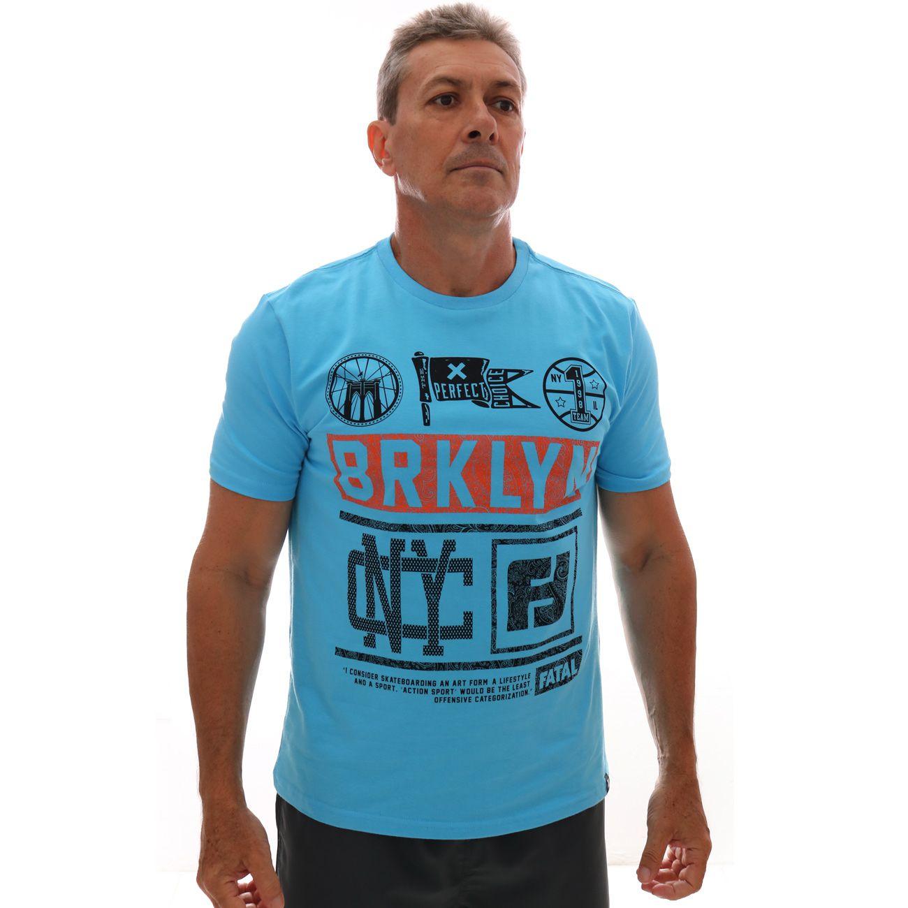Camiseta Fatal Estampada Azul