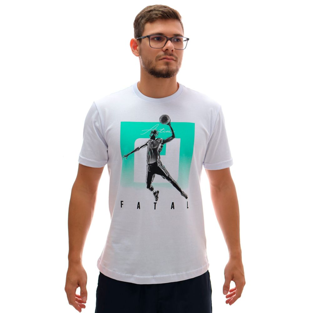 Camiseta Fatal Estampada Ft Branca