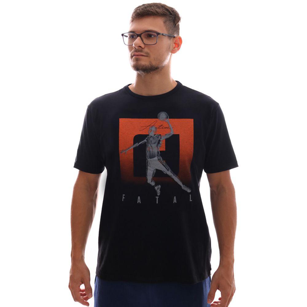 Camiseta Fatal Estampada Ft Preto