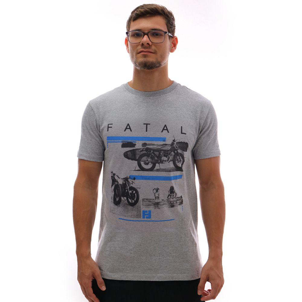 Camiseta Fatal Moto Estampada Mescla