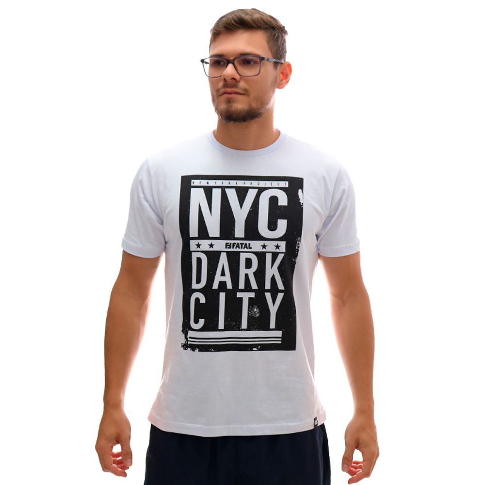 Camiseta Fatal Nyc Dark City Branco