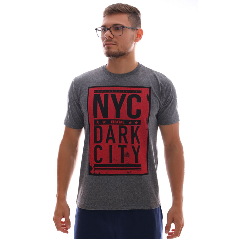 Camiseta Fatal Nyc Dark City Grafite Mescla