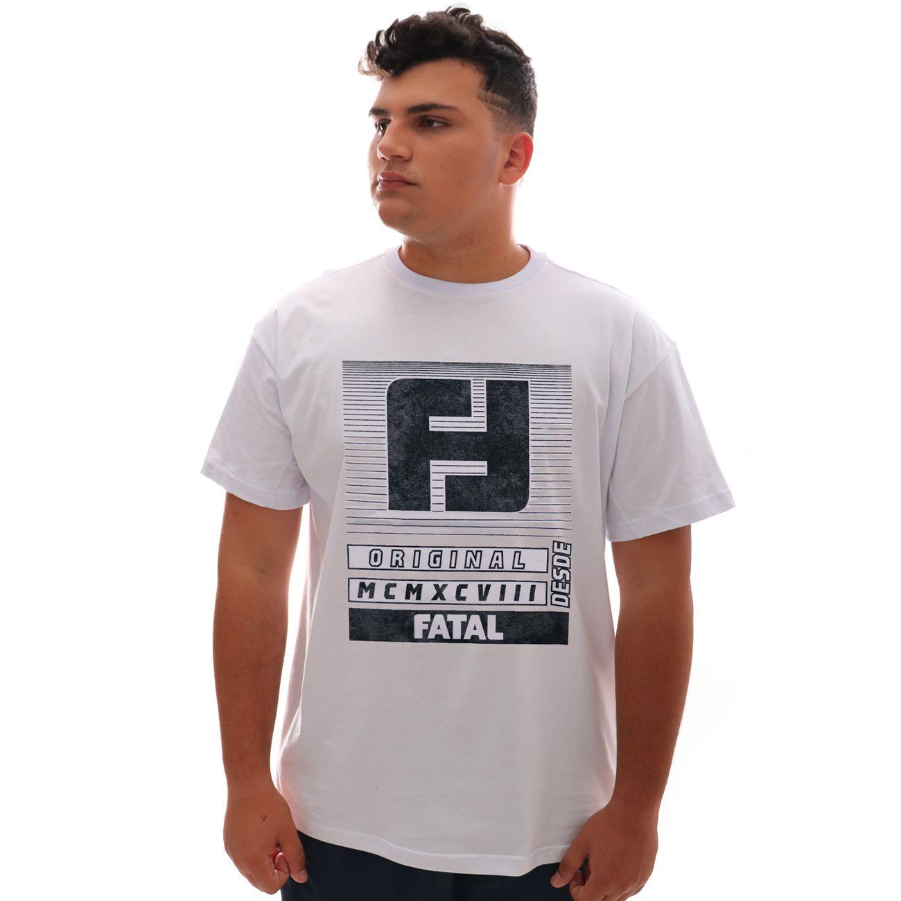 Camiseta Fatal Original Branco Plus Size