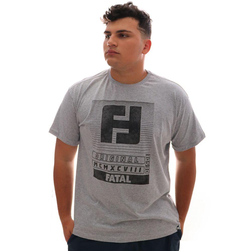 Camiseta Fatal Original Cinza Plus Size