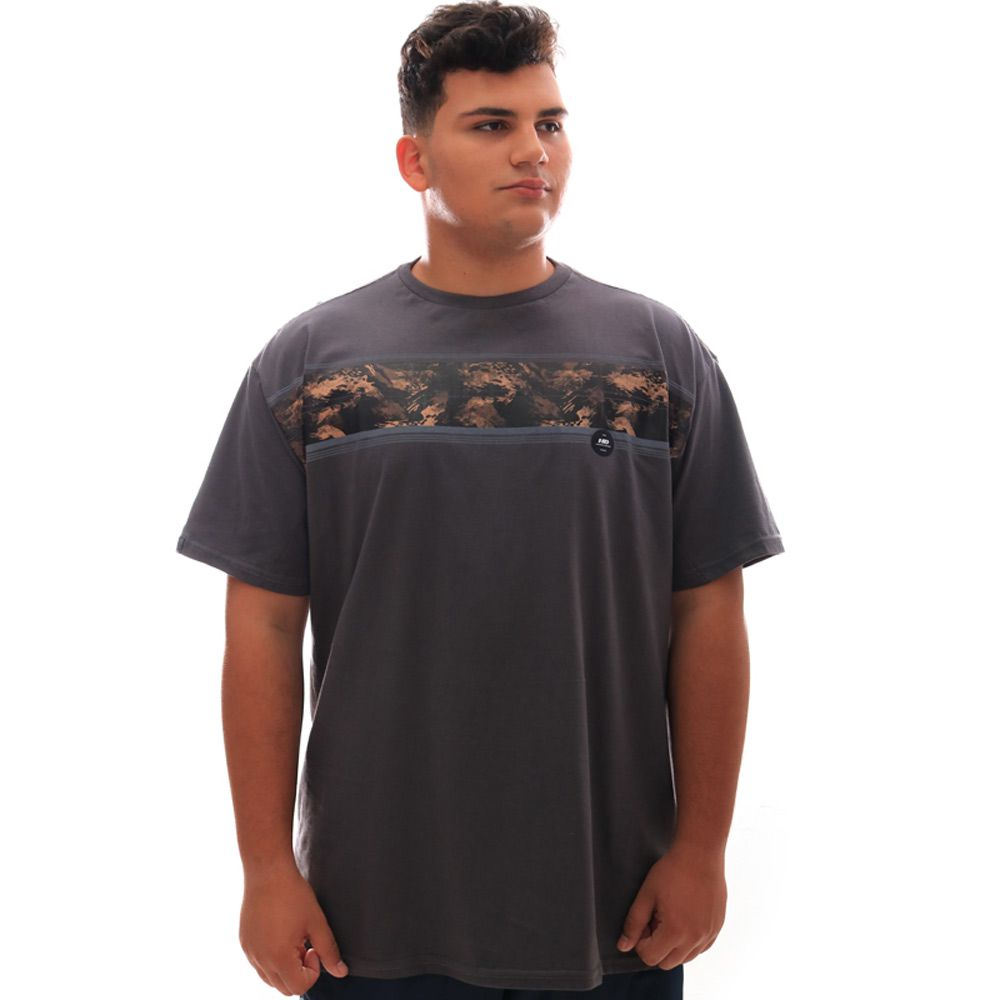 Camiseta HD Básica Gi Joe Chumbo Plus Size