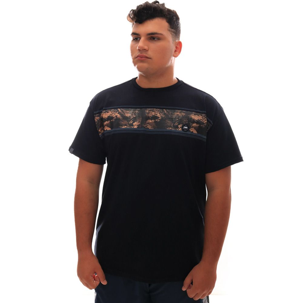 Camiseta HD Básica Gi Joe Preto Plus Size