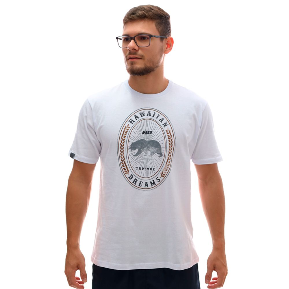 Camiseta HD Bear Label Branco