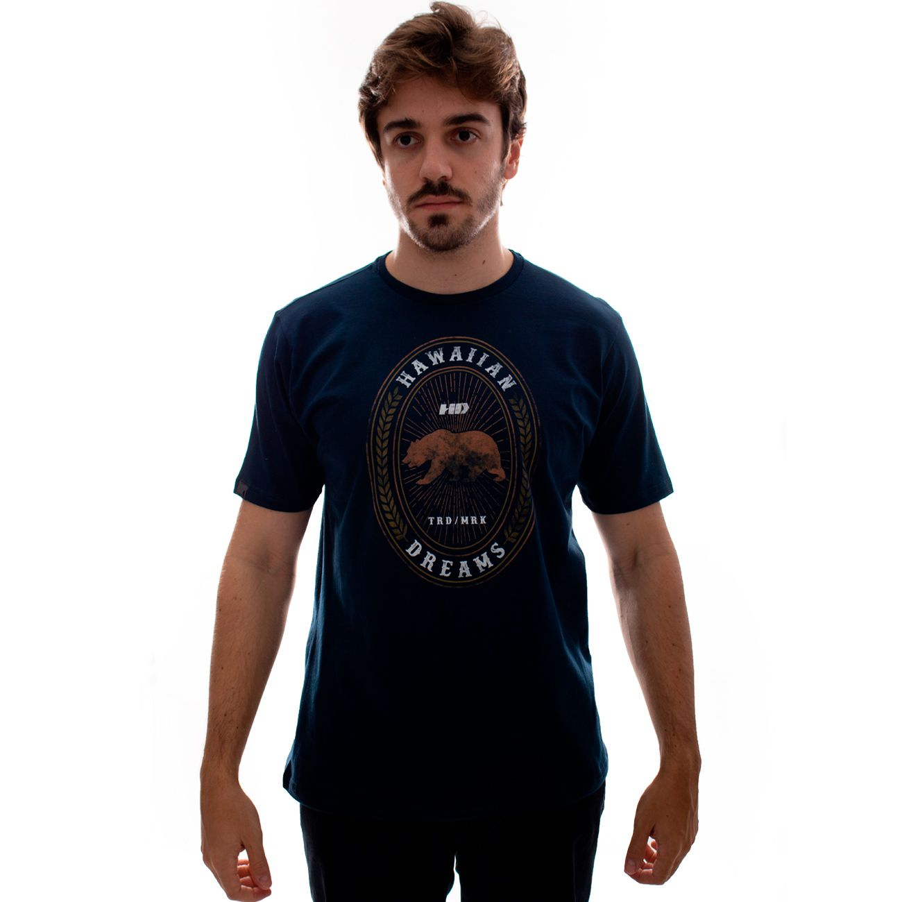 Camiseta HD Bear Label Marinho