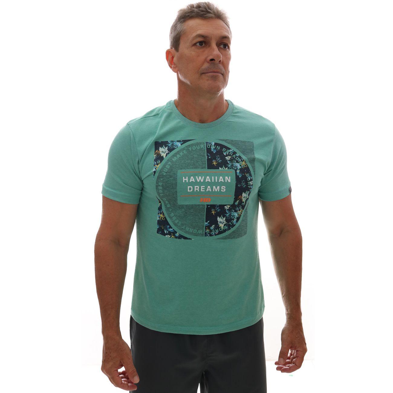 Camiseta HD Branch Verde Mescla