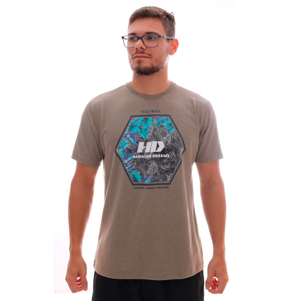 Camiseta HD Greenhouse Khaki Mescla