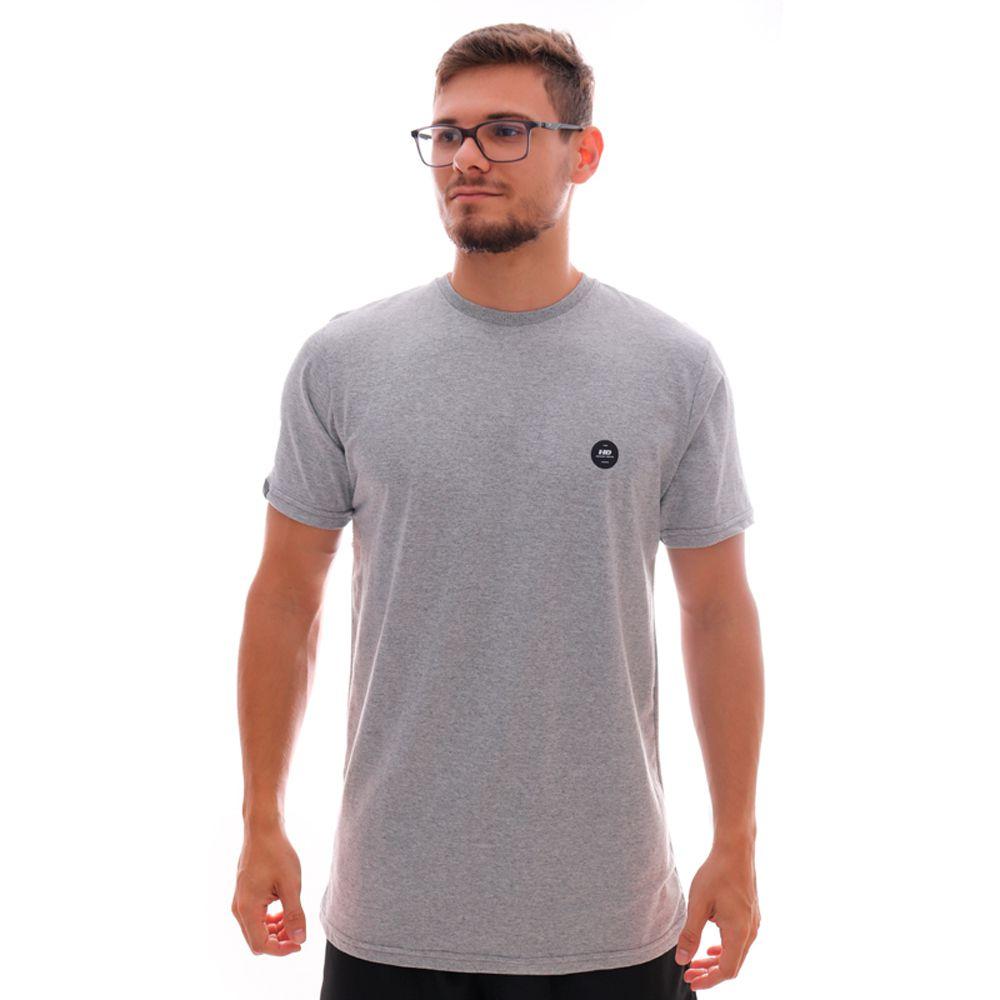 Camiseta HD Long Minimal Cinza Mescla