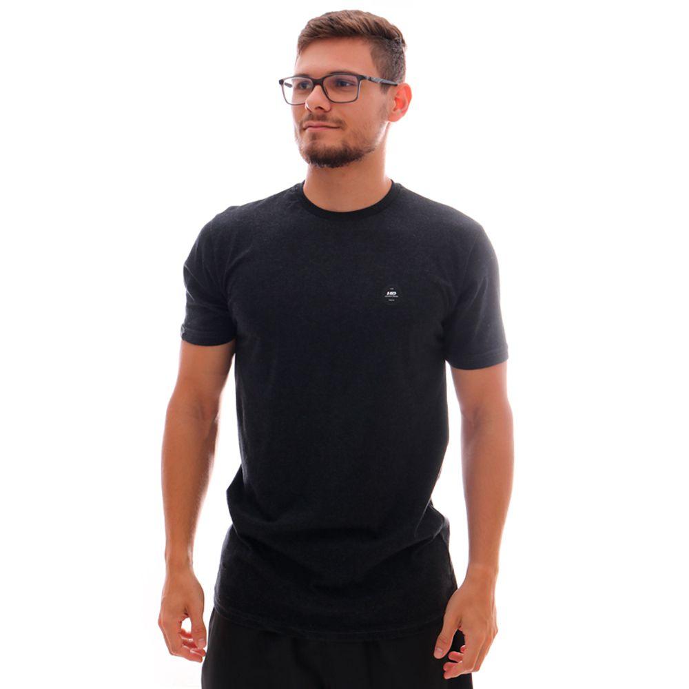Camiseta HD Long Minimal Preto Mescla
