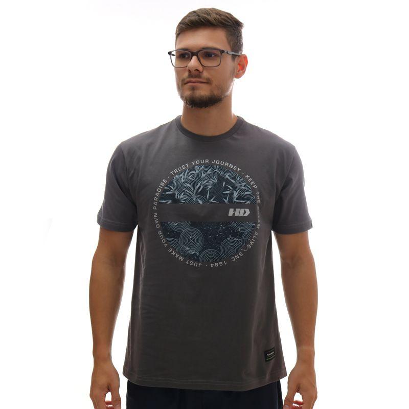 Camiseta HD New Satellite Chumbo