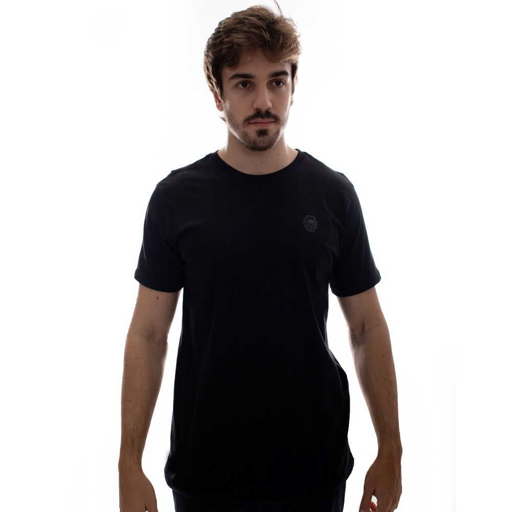 Camiseta HD Plus Size Basic Label Preto