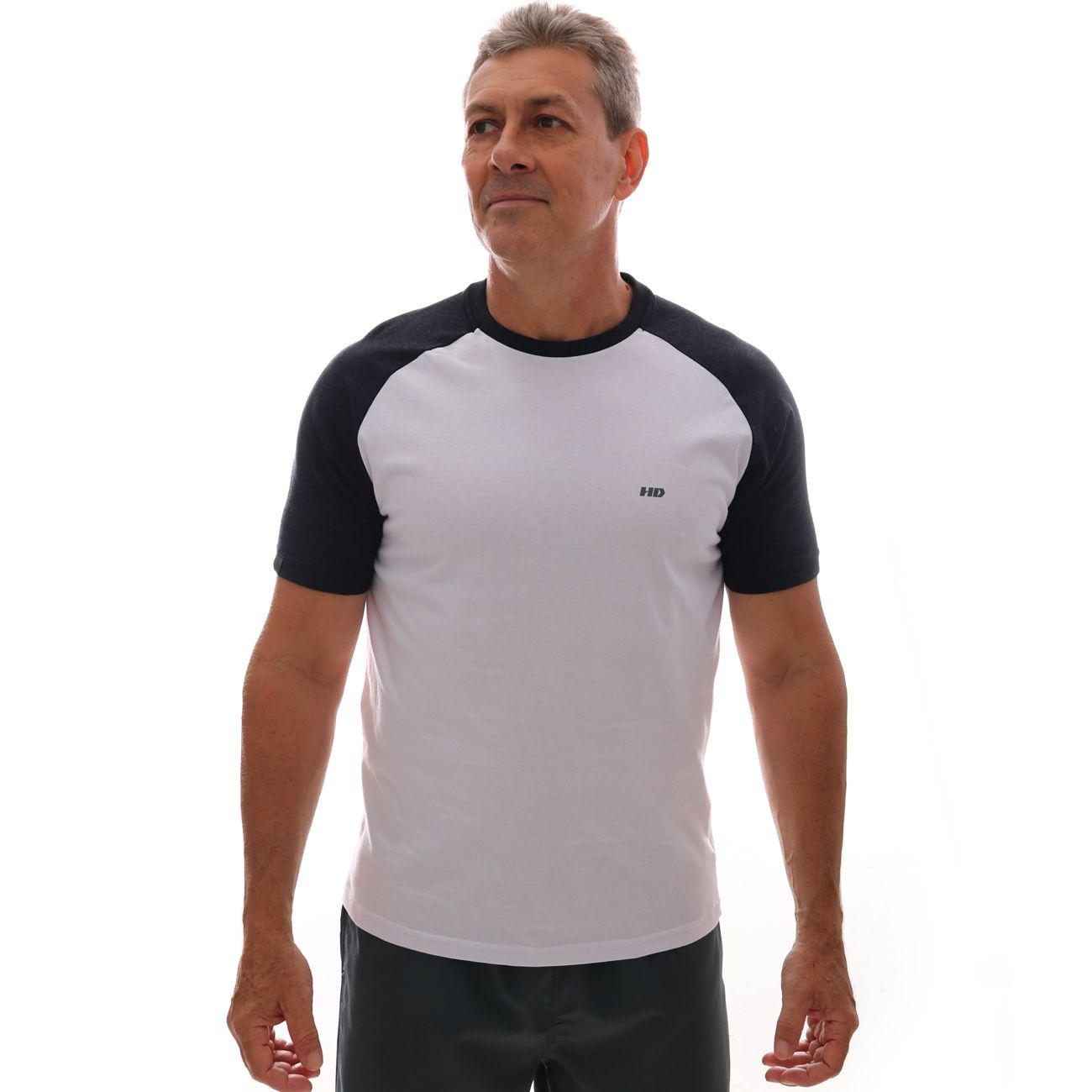 Camiseta HD Raglan Minimal Branco