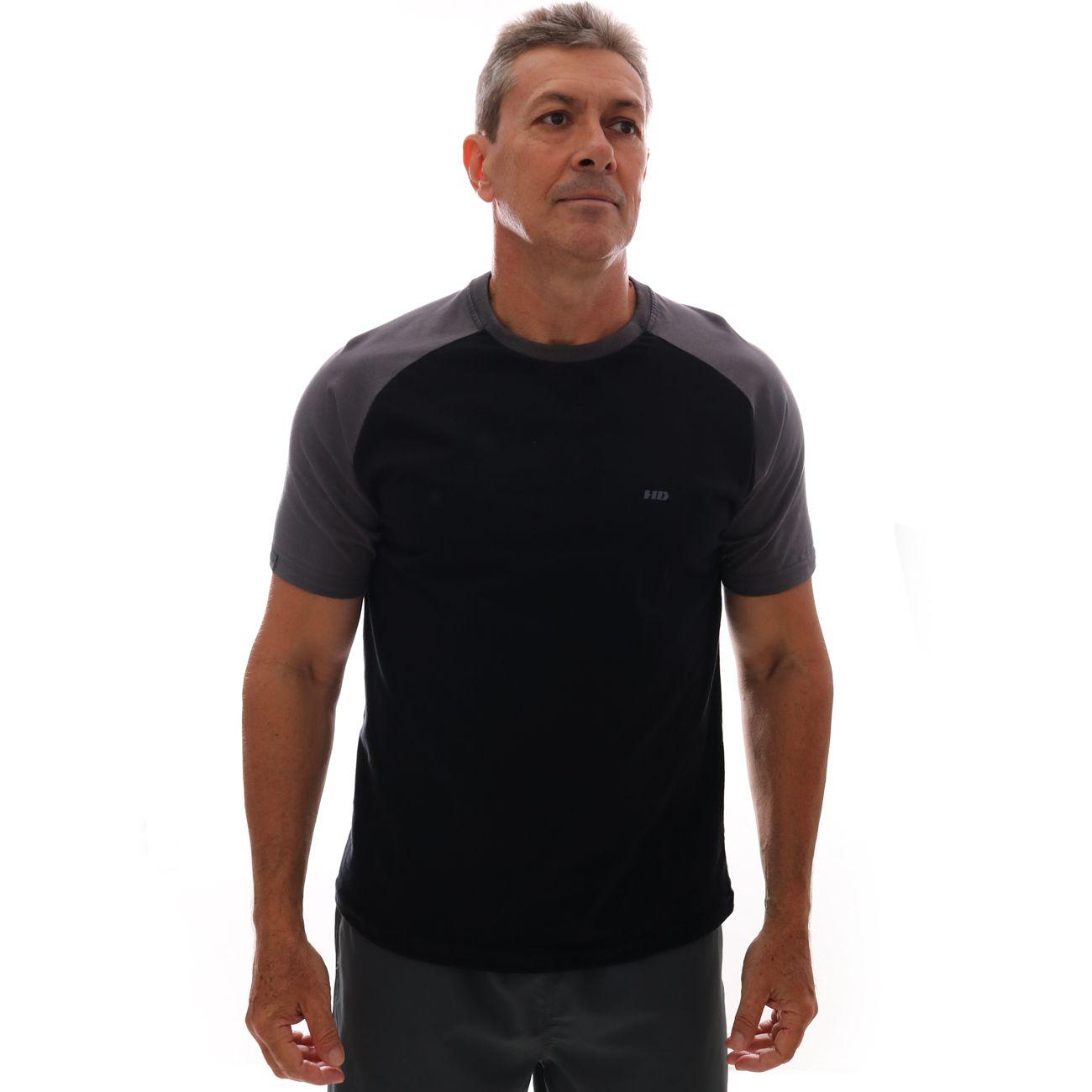 Camiseta HD Raglan Minimal Preto