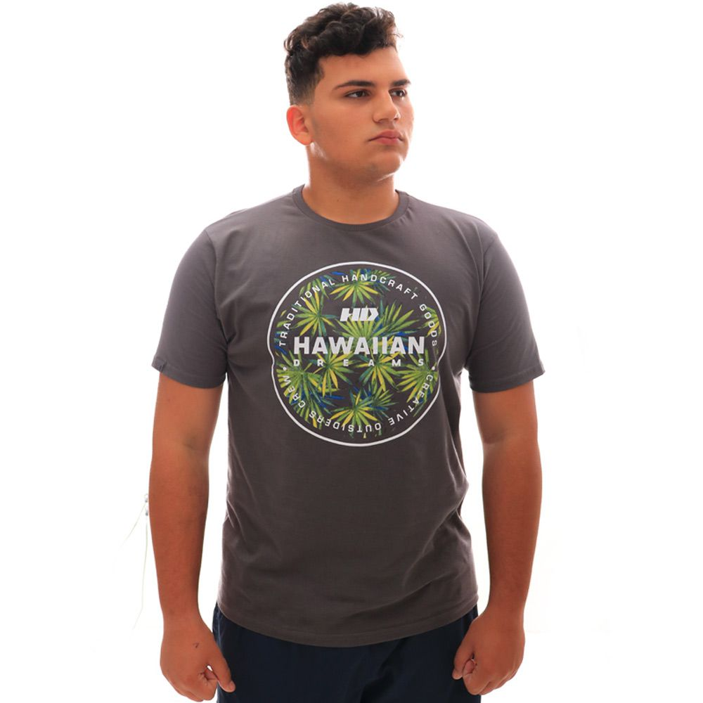 Camiseta HD Spike Flora Cinza