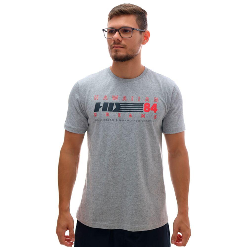 Camiseta HD TS Basica Retro Cinza Mescla