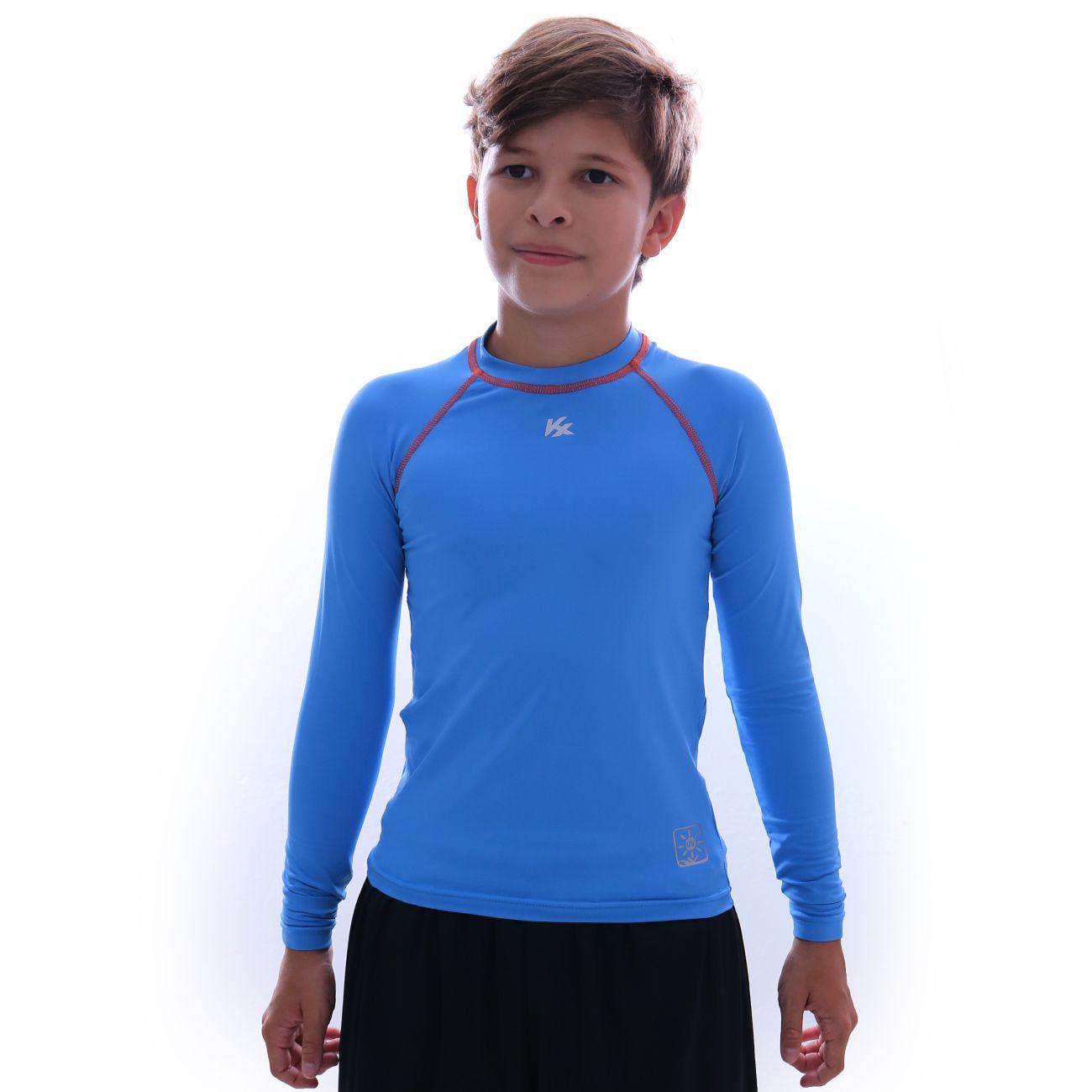 Camiseta Kanxa Protection M/l Infantil Azul