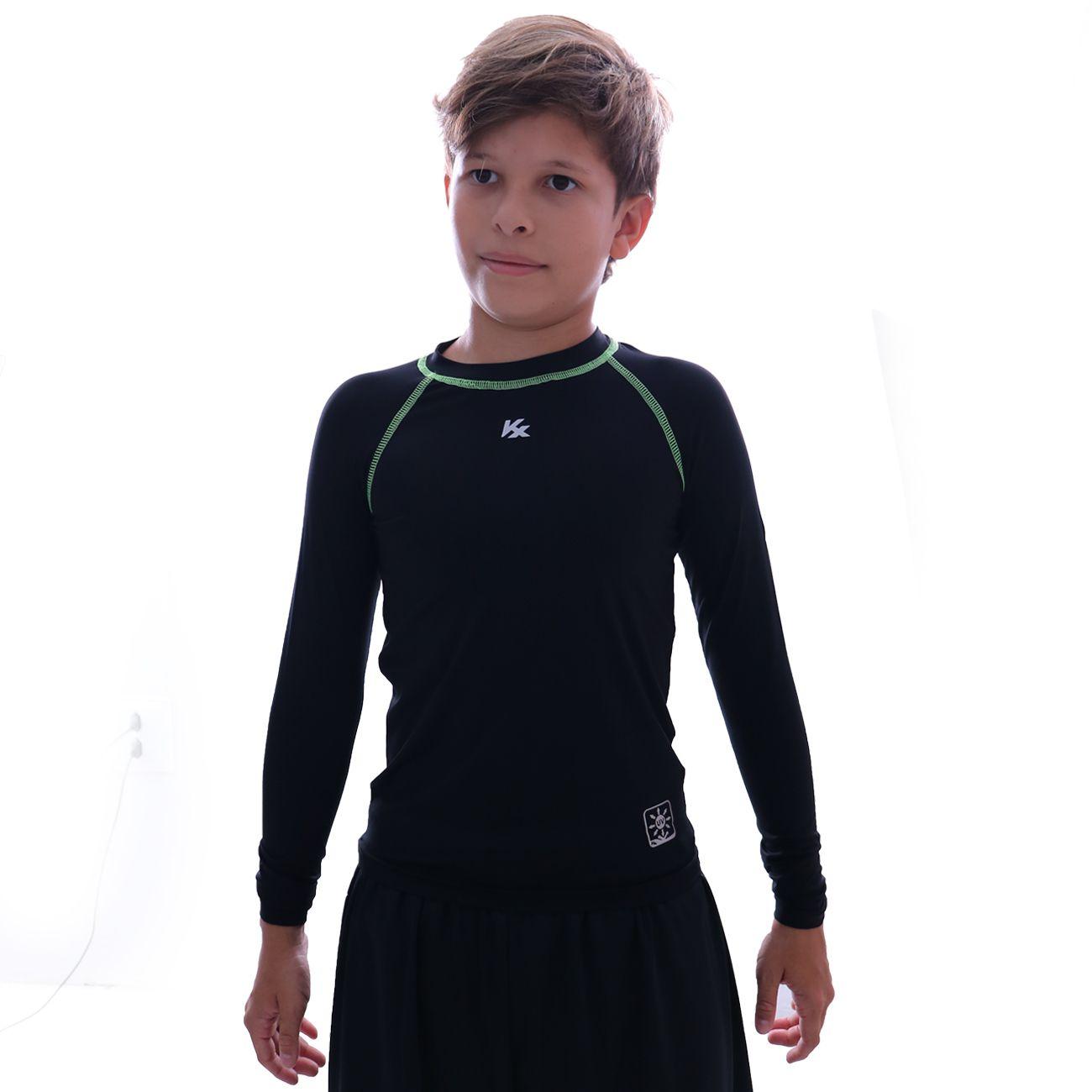 Camiseta Kanxa Protection M/l Infantil Preto
