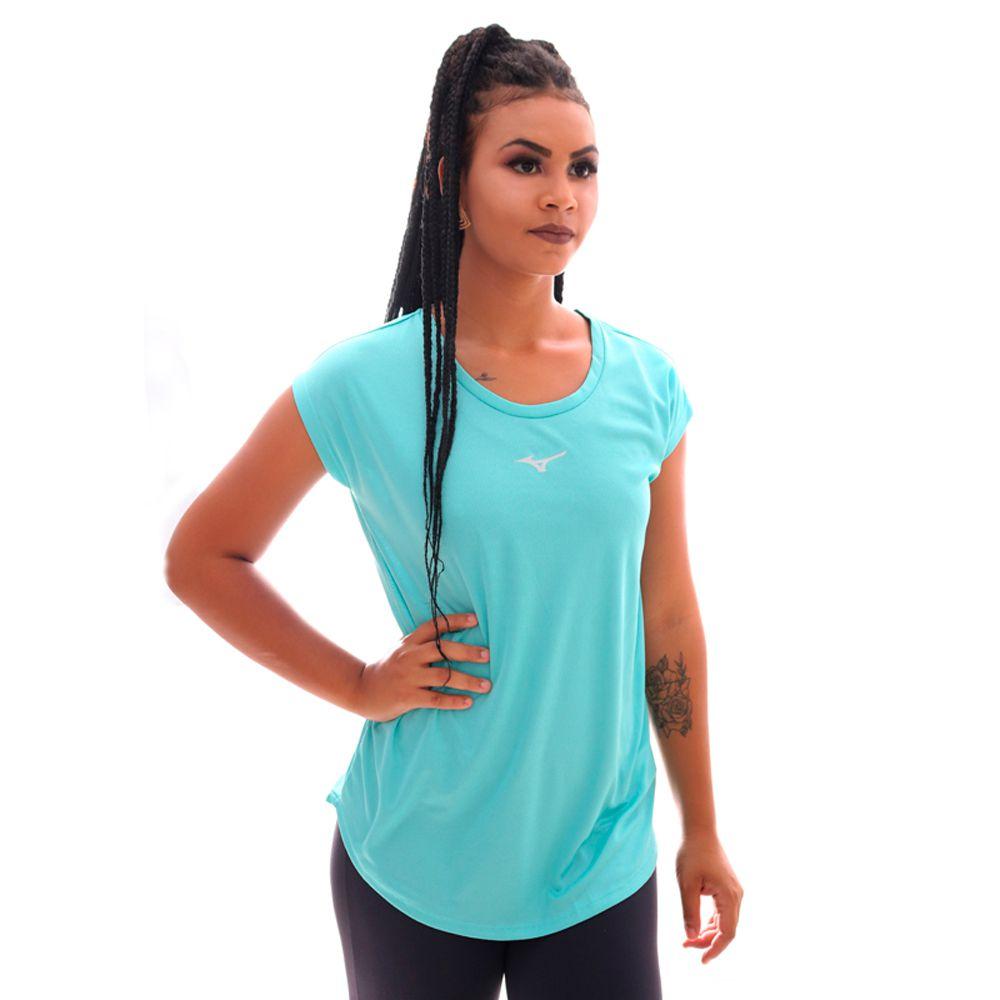 Camiseta Mizuno Fresh New Feminina Azul