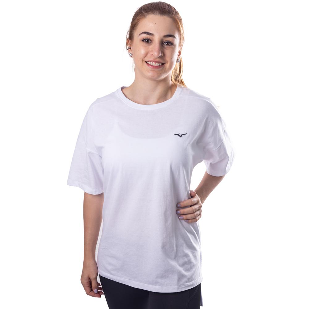 Camiseta Mizuno Over Size Kimi Feminina Branca