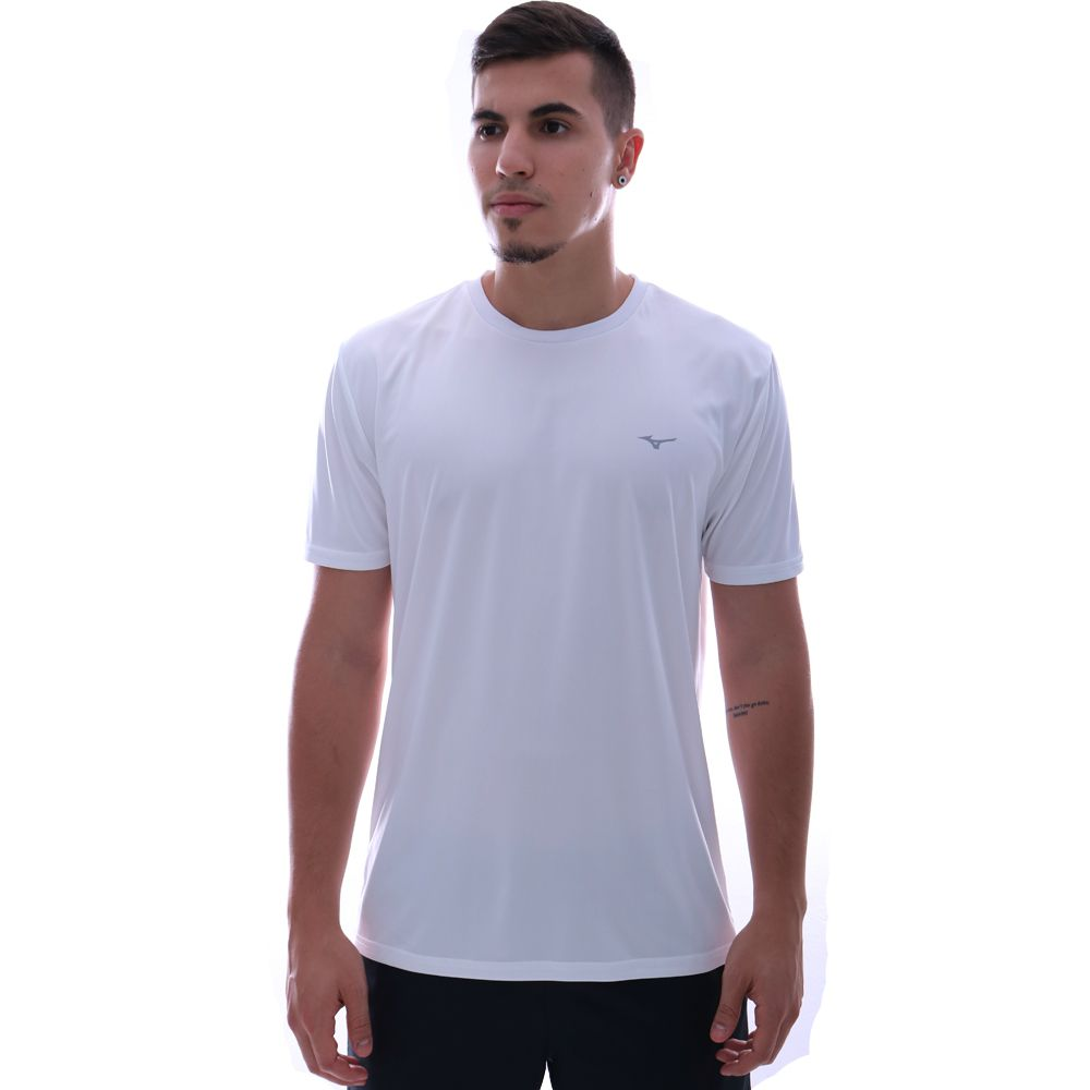 Camiseta Mizuno Run Spark 2 Branco