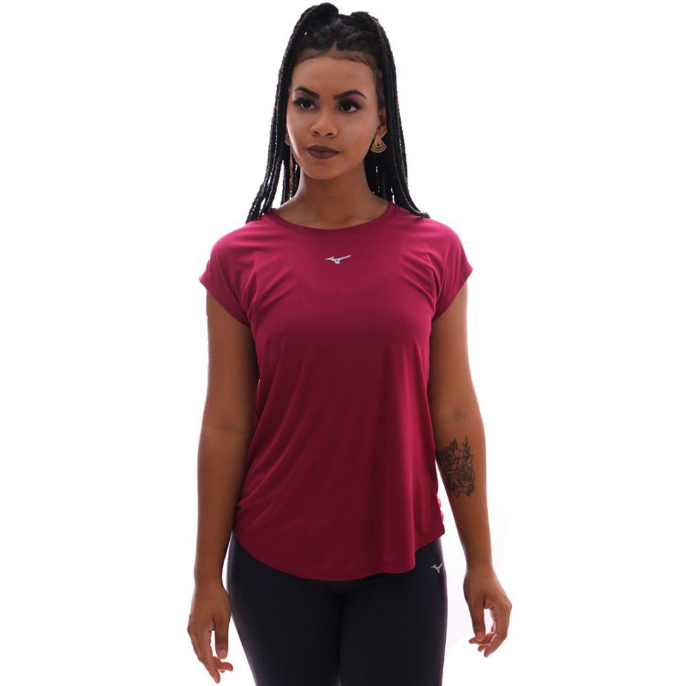 Camiseta Mizuno Run Spark 2 Feminina Vinho