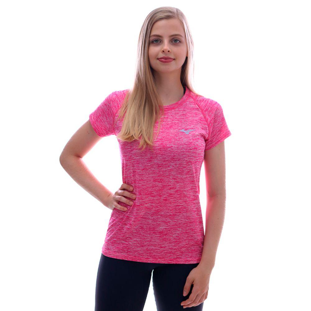 Camiseta Mizuno Sky Run Feminina Rose