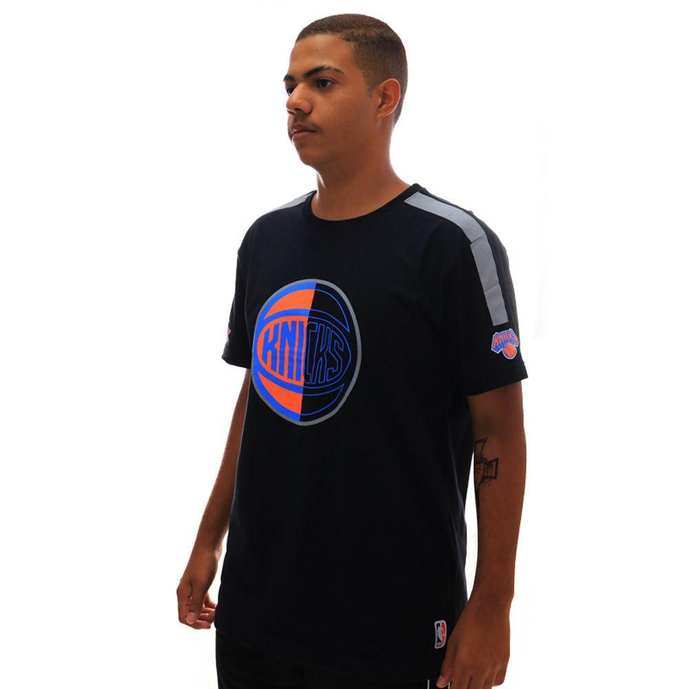 Camiseta NBA Logo New York Knicks Preto