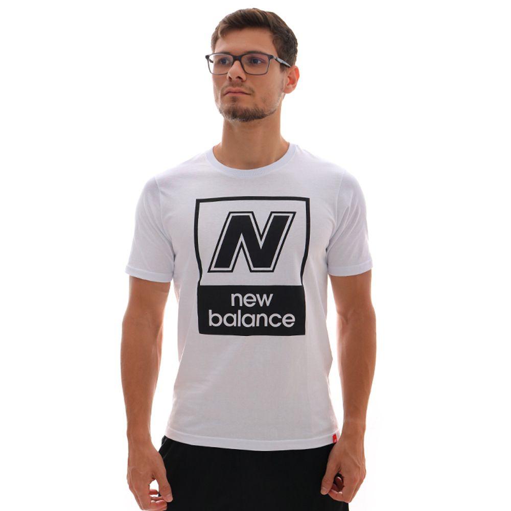 Camiseta New Balance N Box Branca